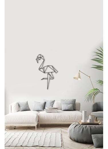Angemiel Home Flamingo Metal Duvar Tablosu Siyah